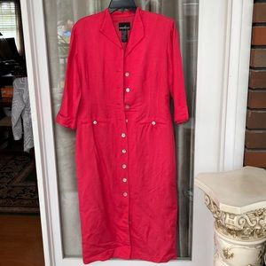 Dress, size 10P by Positive Attitude, Deep pink